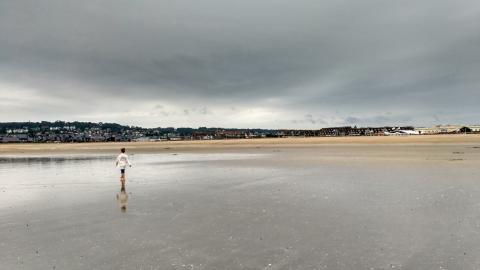 Playa de Deuville con niños
